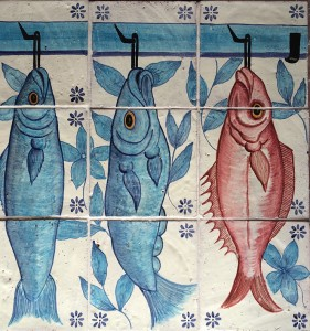 Specially commissioned ceramic tiles