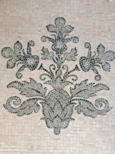 Traditional cut marble Roman mosaics                    - after a wallpaper pattern -