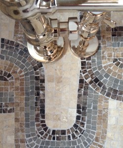 Traditional cut marble Roman mosaics