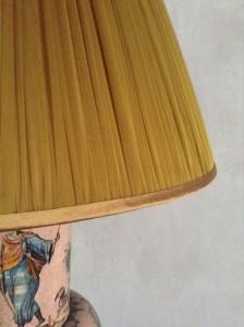 Hand made balloon lined chiffon silk lampshade