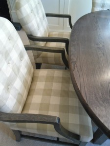 Made to measure spoon back chairs finished to match table (Chelsea)