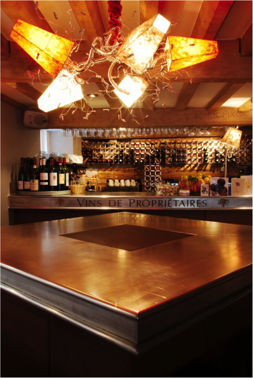 Own design layout of new restaurant & bar (West Sussex) - bespoke lightings and made to measure zinc tops